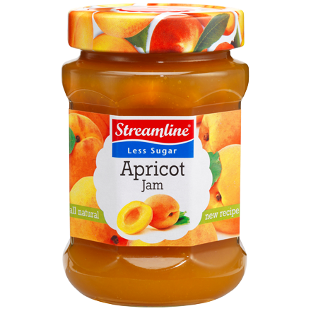 The colour of summer is captured in every jar of this Streamline apricot less sugar jam. The ripe sweetness of apricots is a treat anytime of the year