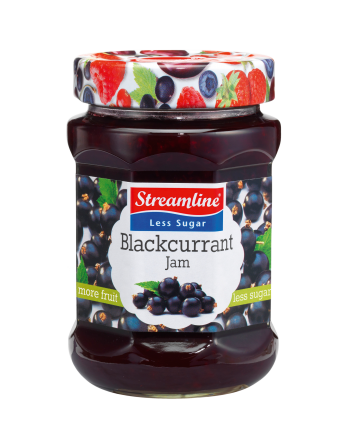 Streamline Less Sugar Blackcurrant 340g
