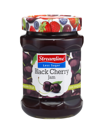 Streamline Less Sugar Black Cherry 340g