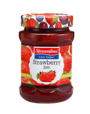 Streamline Less Sugar Strawberry 340g