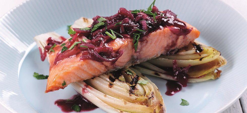 Salmon with raspberry glaze - Streamline Less Sugar Raspberry Seedless Jam