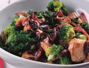 Turkey, Kale and Blackcurrant stir fry - Streamline Less Sugar Blackcurrant Jam