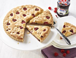 Bake it healthier Bakewell tart with Streamline Less Sugar Blackcurrant jam