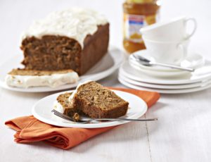 Carrot cake with Streamline Less Sugar Orange Marmalade frosting