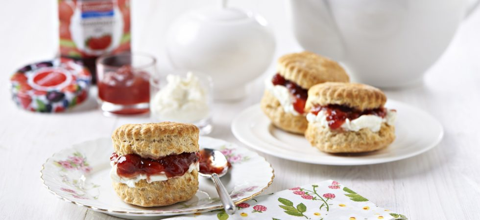 Scones with Streamline Strawberry Less Sugar Jam