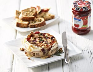 Streamline Strawberry baked camembert