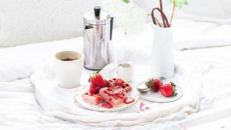 Streamline Less Sugar Jam Strawberry Heart Waffles