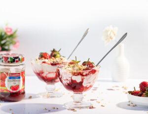 Streamline less sugar strawberry fruit fool recipe